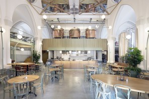 Buro NØRD designs brewery and pub inside former neo-Gothic cross church