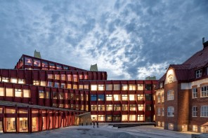 Kunskapshuset has been designed as a landmark that tells the story of its area