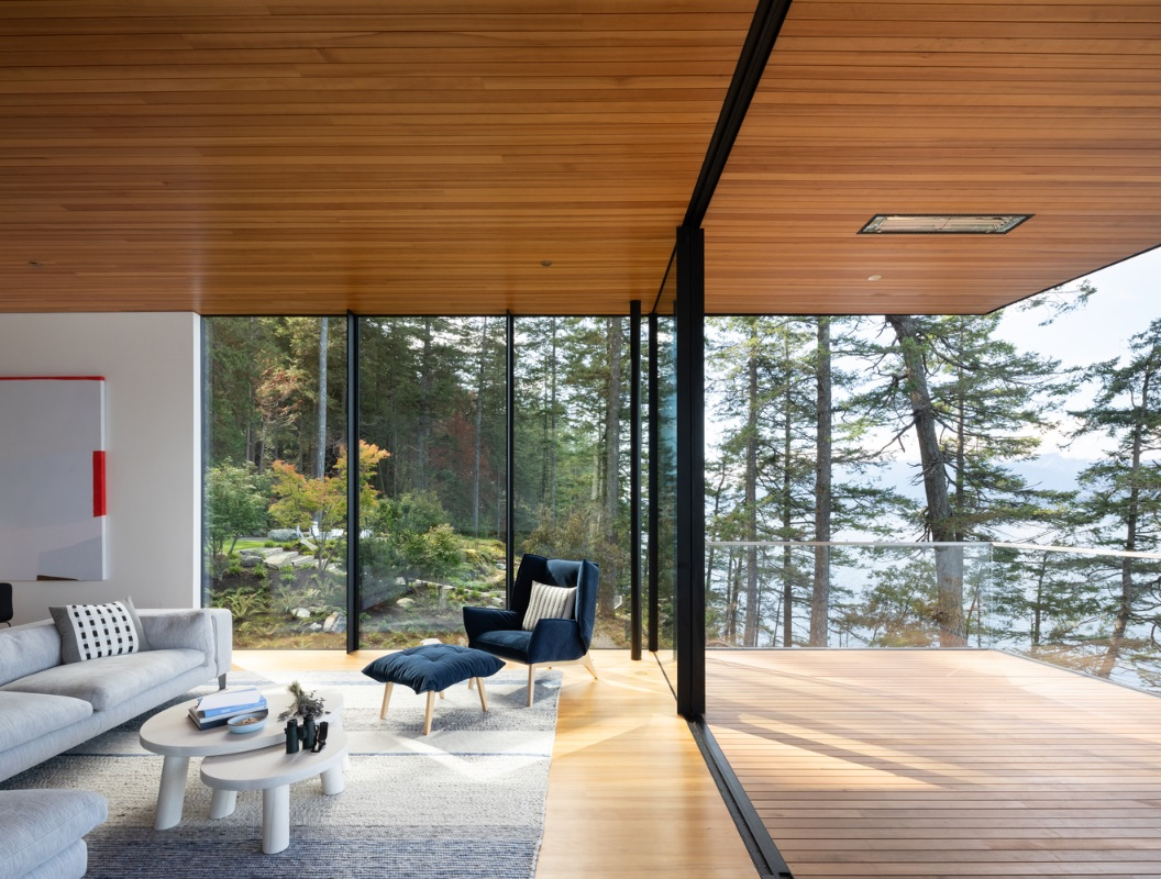 A contemporary cabin that offers the basic pleasures of a home with deep connections to nature and a light environmental impact