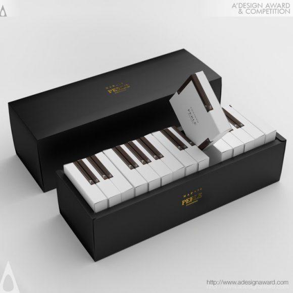Marais Piano cake packaging by Kazuaki Kawahara