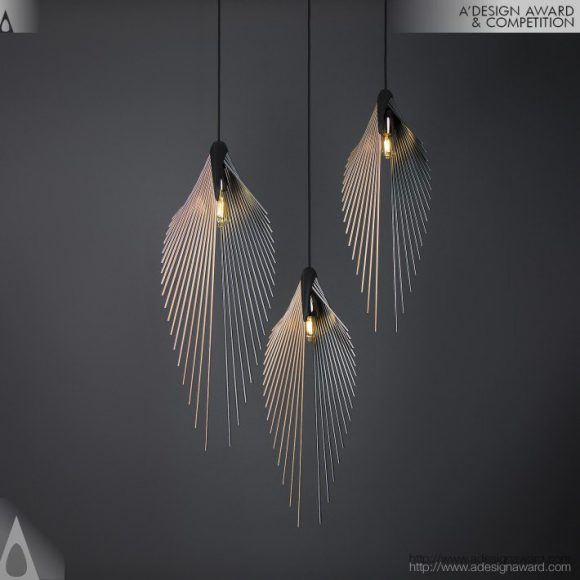 Leaf Pendant Light by Daniel Mato