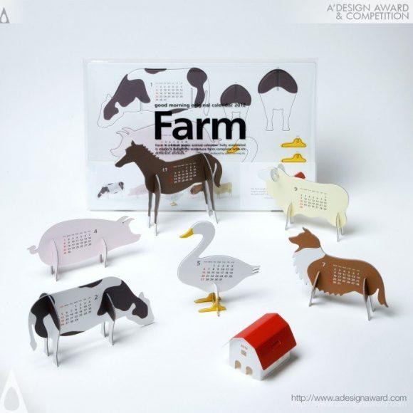 """Farm"" Calendar by Katsumi Tamura"
