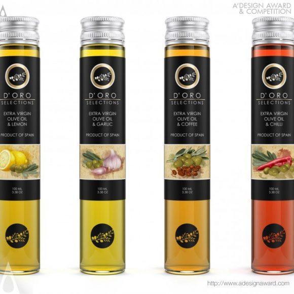 D'oro Extra Virgin Olive Oils Range by Guilherme Jardim